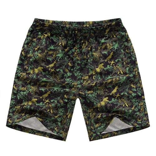 Leisure Pants Printing Men's Beach Pants Shorts Summer