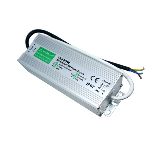 Waterproof DC12V IP67 80W 6.66A LED Driver Power Supply Transformer