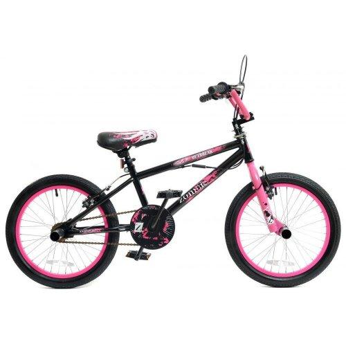 "Zombie Outbreak Girls Kids Freestyle BMX Bike 18"" Wheels Giro 360 Stunt Pegs"