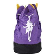 Petal Design Dance Dags Latin Ballet Drawstring Backpack Supply, Purple