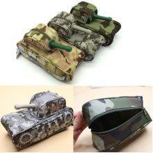 Cool Tank Shape Pencil Case Bag Pen Box Stationery Boy's School Pen Case Purse