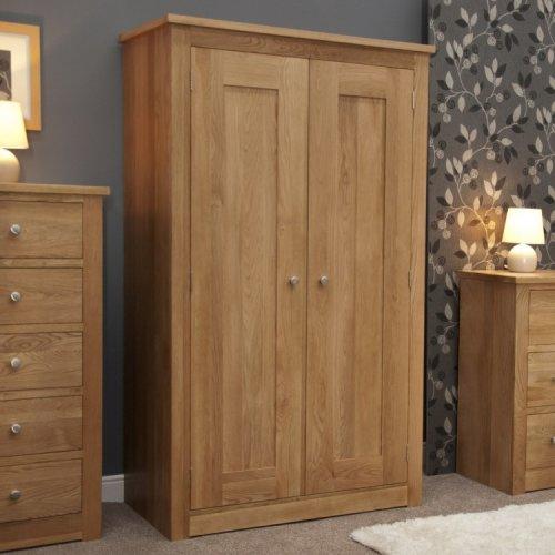Homestyle Torino Solid Oak Furniture Double Wardrobe