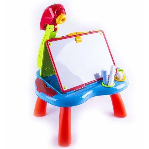 deAO Quick Flip 2-in-1 Children's Art Projector Desk
