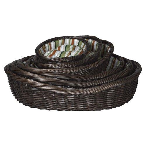 Trixie Set Of 6 Wicker Dog Baskets