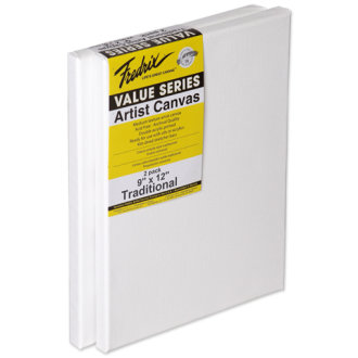 "Tara Fredrix Value Stretch Canvas Twin Pack-9""X12"""