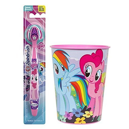 My Little Pony Pinkie Pie Toothbrush Bundle 2 Items Manual Spinbrush Toothbrush My Little Pony Character Rinse Cup