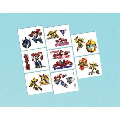 Amscan 394491 Transformers Tattoos Sheet - Pack of 192