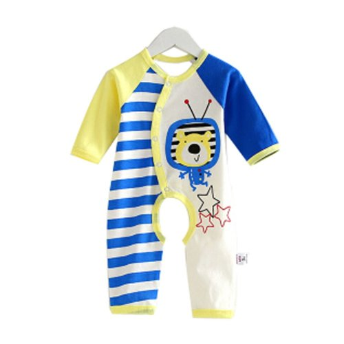 Baby Suit Clothing Long-Sleeved Cotton Baby Crawl Sports Open Fork Cotton K