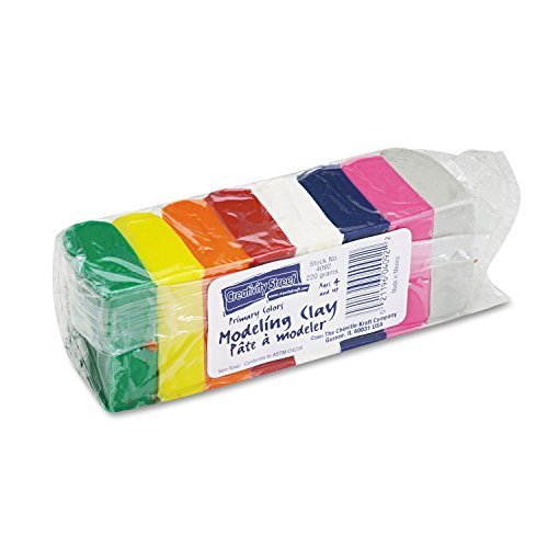 Chenille Kraft 4092 Modeling Clay Assortment, 27 12g each Assorted Bright, 220 g