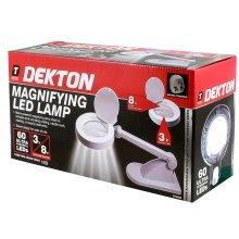 Dekton 60 LED Lighted Illuminated Magnifying Glass Desk Lamp Magnifier Table Light