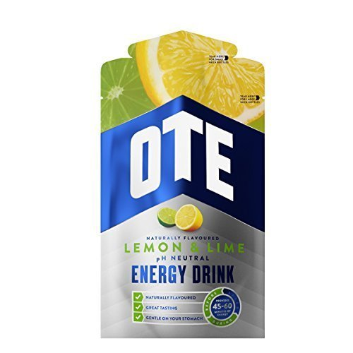 OTE Lemon & Lime Energy Drink - 14 x 43g Packs | Powdered Sports Drink Sachets