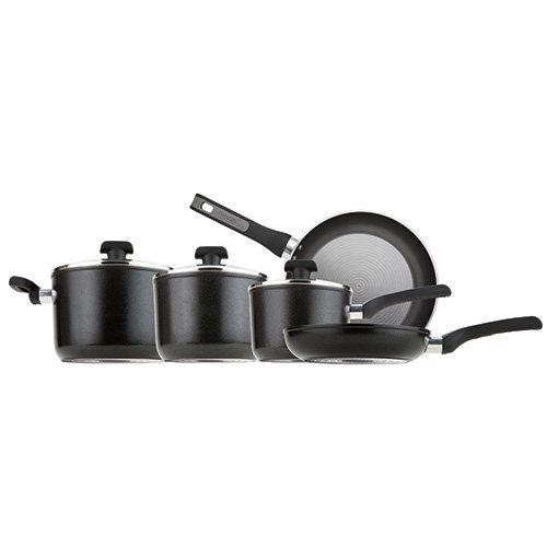 Prestige Duraforge Aluminium Cookware, Black, Set of 5