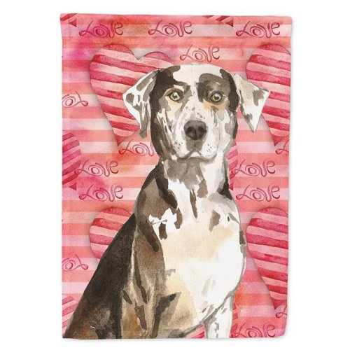 Carolines Treasures CK1771CHF Love a Catahoula Leopard Dog Flag Canvas House Size