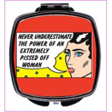 Never Underestimate Compact Mirror